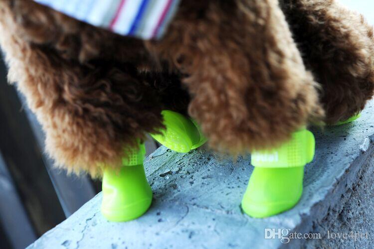 D01 Dog Shoes Pet Shoes Pet Boots Anti Slip Skid Waterproof Rain boots