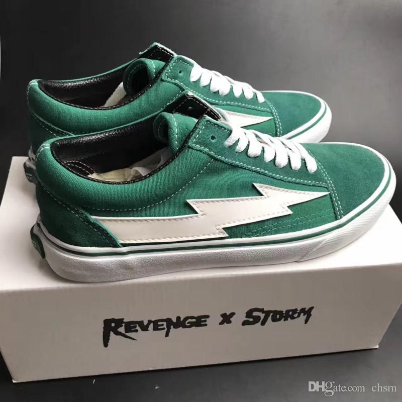 REVENGE X STORM Unisex Low Top   High Top Adult Men S Canvas Shoes Laced Up  Casual Shoes Gym Sneaker Shoes Black Green Red Loafers Mens Boots From  Chsm 6204583a483c