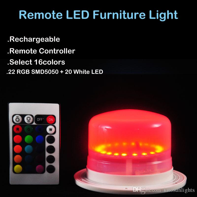 2018 new rechargeable super bright rgbw led under table lighting