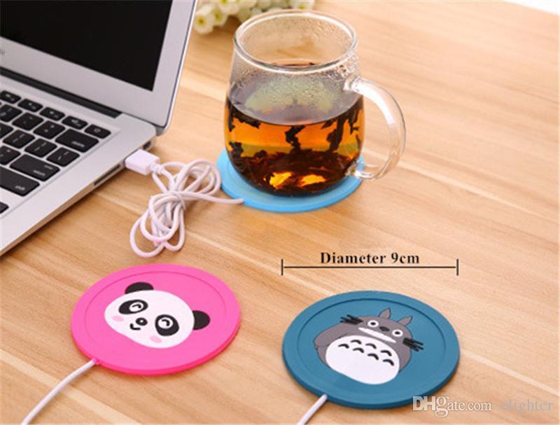 USB Cup Pad Wärmer Heizung Cartoon Silikon Heizung für Milch Tee Kaffeetasse Heiße Getränke Getränke Tasse Mat Pad beste geschenk