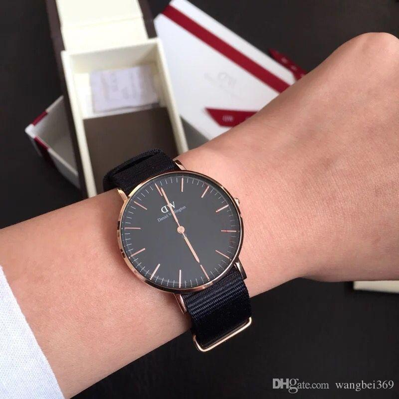 fashion daniel wellington watch 40mm men watches women watches luxury brand quartz watch dw. Black Bedroom Furniture Sets. Home Design Ideas