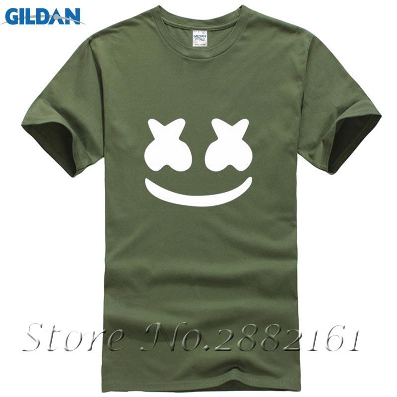 2d4cd91e1dcb New Summer Fashion Marshmello Sleeve Cotton SMALE Face Men Casual Hip Hop  Music Hipster Harajuku Brand Clothing T-Shirt Online with  12.99 Piece on  ...