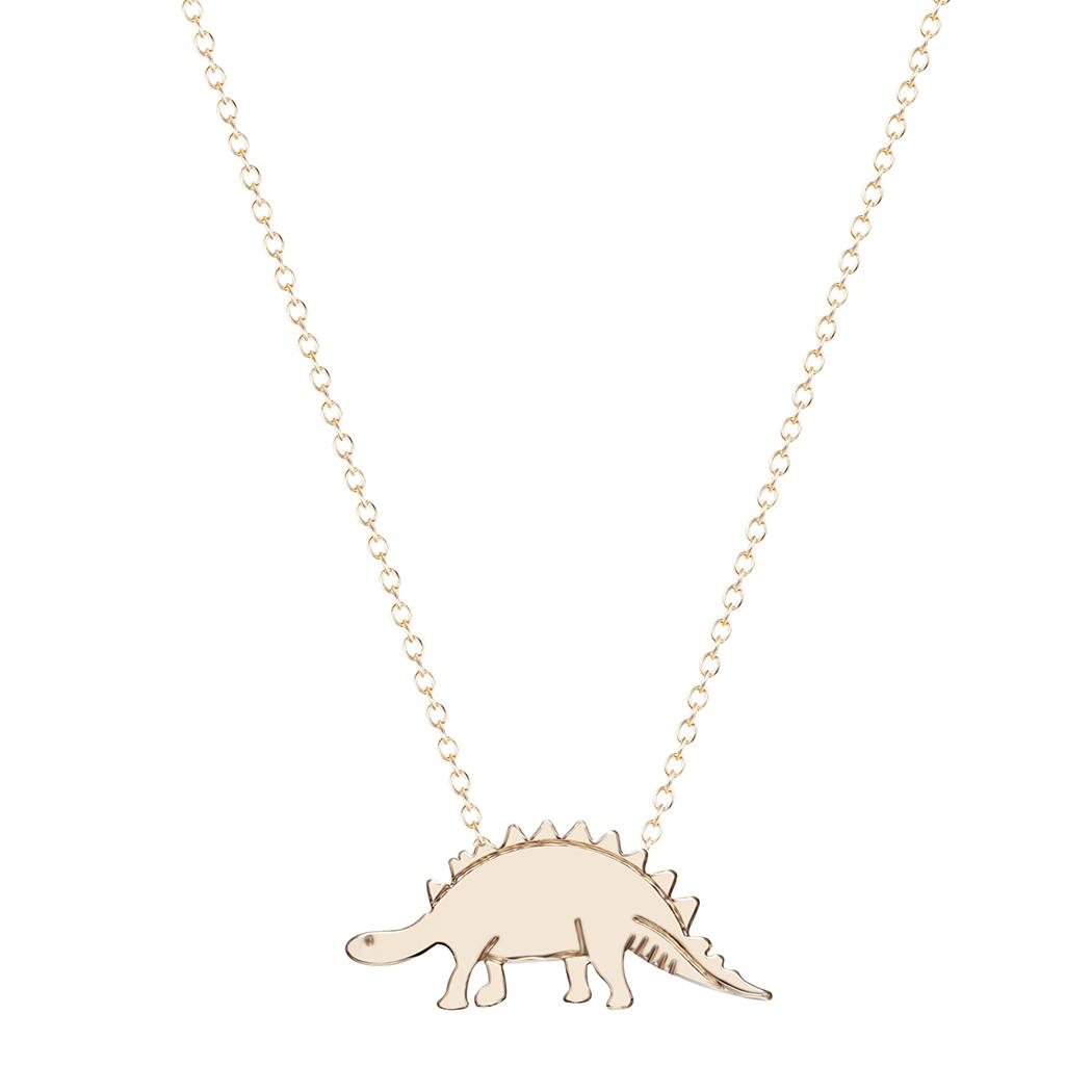 wholesale women simple animal cute tiny dinosaur chain necklace