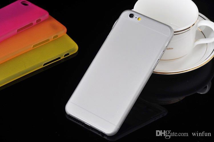 Yeni Ultra Hafif Yumuşak Mat Kristal PP Kılıf Cilt Ultra İnce Mat Buzlu PP Kılıf Kapak iphone 6 4.7 inç 500 adet / grup