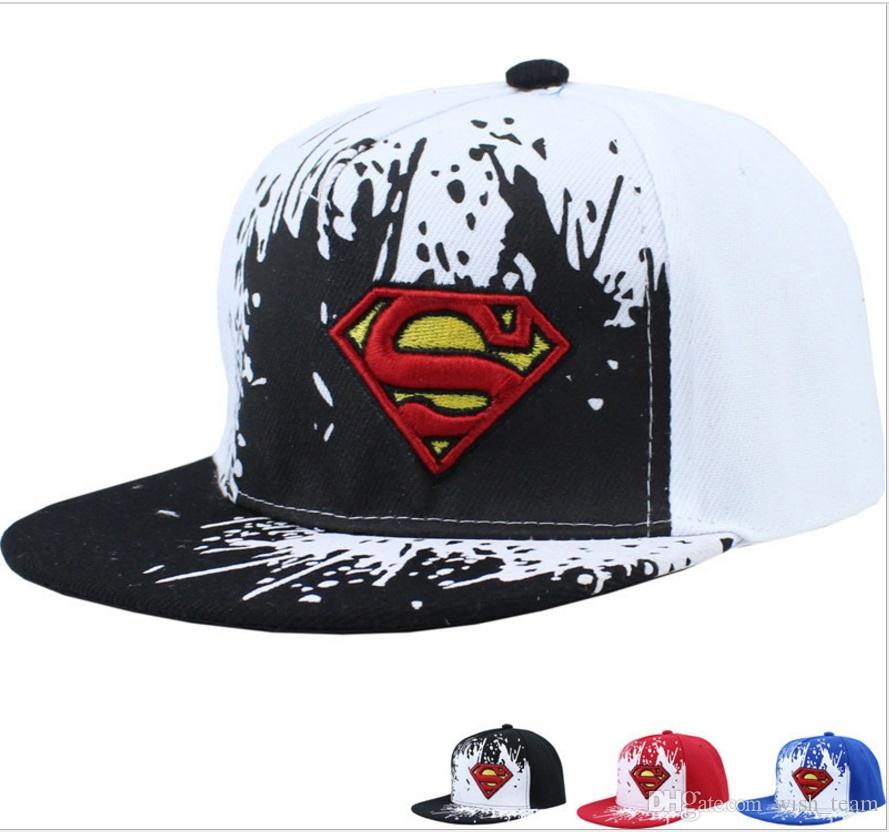 047d3c0b09c New Fashion Boy Cap Children Baseball Caps Child Adjustable Supermen  Snapback Hip Hop Summer Hat Cool Caps Flat Brim Hats From Wish team