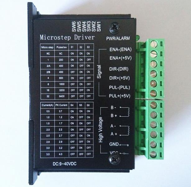 Controlador de controlador de motor paso a paso 4A TB6600 9 ~ 42V TTL 32 Control de paso automático CNC 1 eje NUEVO, suite para motor paso a paso 42/57/86