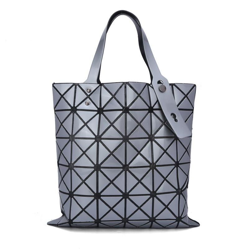 Chic Geometric Rhombic Plaid Trendy Tote Ladies Japan And Korean ...