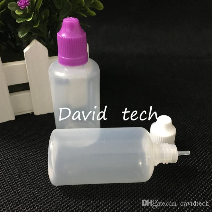 trasporto libero bottiglie e liquido 50ML PE e-succo Ago punte di plastica Flacone con contagocce, a prova di bambino Cap e cig Bottiglie di olio