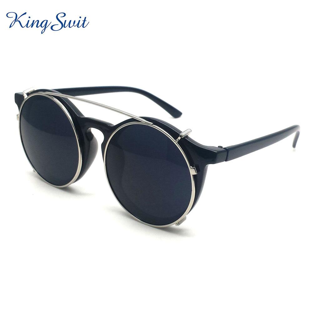 Fashion Retro Steampunk Sunglasses for Men And Women With Black Lens ...
