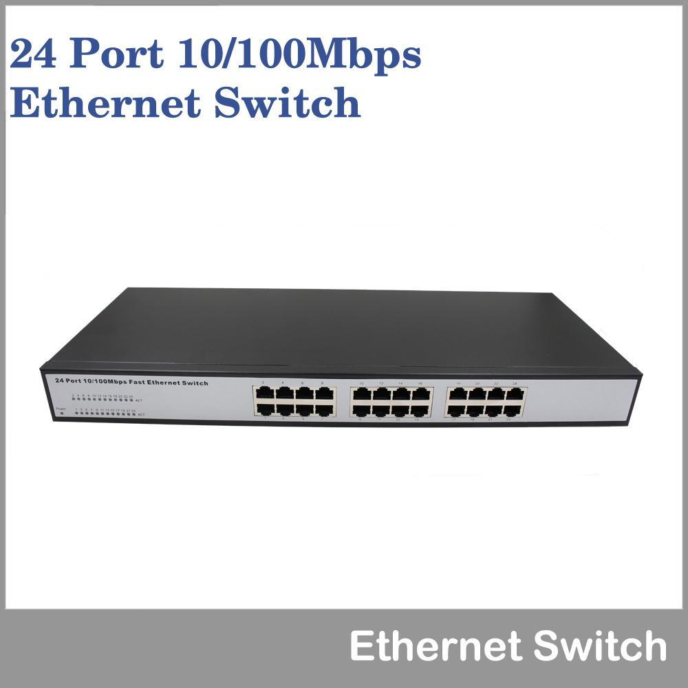 19 Rack-mounted Network Switches Metal Case 24 Port 10/100mbps Fast ...