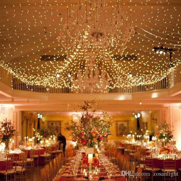 웨딩 장식 야외 실내 축제 문자열 조명 20 M net LED 200LED 다채로운 문자열 조명 220v 110v 크리스마스 문자열 조명
