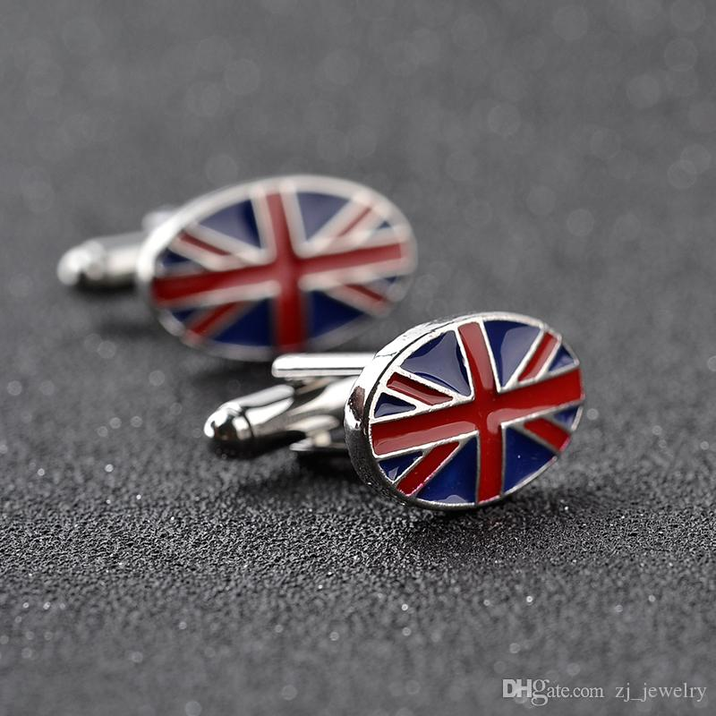 Classic Cuff Links For Men Oval United Kindom England Britain National Flag Gift Cufflinks Patriot Jewelry zj-0903914