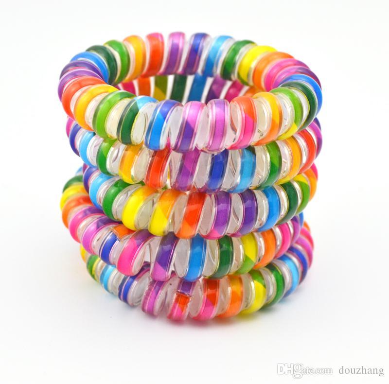 5.5 см красочные волосы ювелирные изделия ободки телефонная линия волос веревки для женщин волос группа аксессуар