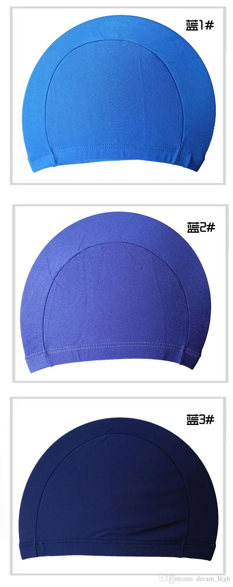 Stretch fabric color Nylon quality comfort adult Swim Cap Flexible Durable Elasticity Portable Swimming Hat For Men Women