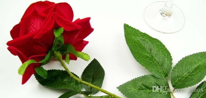 Оптовая 26.8 дюймов большой цветущий Красная Роза искусственные цветы стекаются красные розы Оптовая дисплей цветок для украшения дома свадьба