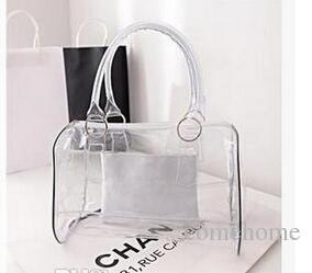 aab645773f94 Whole Sale Fashion Women Candy Color Transparent Bag Clear Beach Bags PVC  Leather Bag Shopping Bag Handbag Tote Purse PVC Plastic Discount Handbags  Best ...