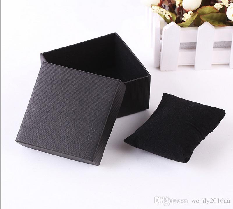 100 stücke 8 * 8,5 * 5,5 cmJewelry Boxen solide Luxuriöse Halskette Ohrring Verpackung Armband Boxen Halskette Box Jewlry Geschenkbox