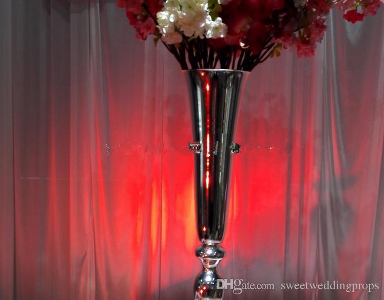 Tall 75CM piliers de vase de fleur de pilier de mariage pour la décoration d'allée