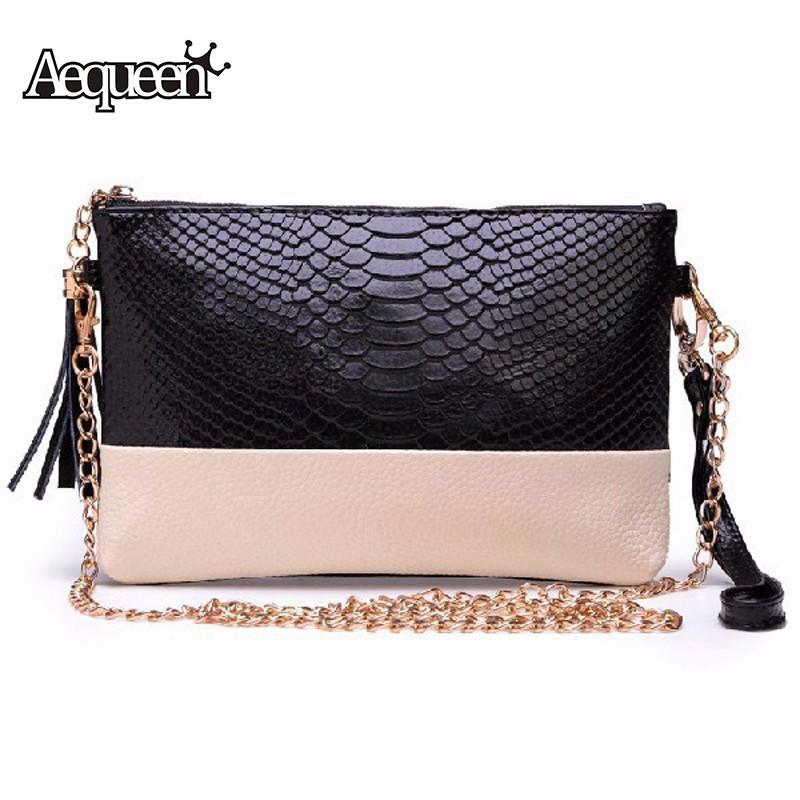 Wholesale- Women Chain Bags Pu Crocodile Leather Messenger Bags Lady ... 6da5bd0c7156f