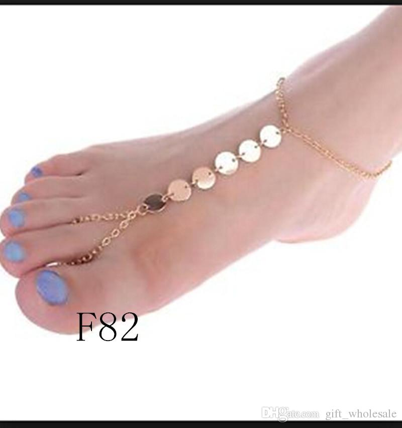 20 Styles Barefoot Sandals pearls anklet chain with toe ring New arrival drop ship accept glass pearl alll handmade