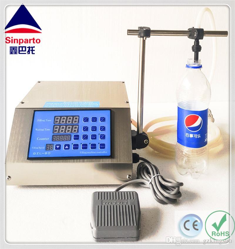 Sinparto CE RoHS Ücretsiz kargo! 2-5000ml / dak ile GZL-80 Dijital Kontrol Sıvı Dolum Makinesi parfüm dolum makinası