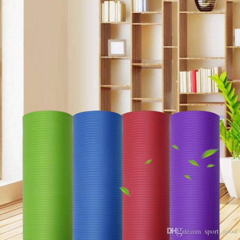 Yoga 10 milímetros de espessura NBR Yoga Mat Iniciantes aptidão Usado Mat flexível antiderrapante Exercício Pad Inodoro Ambiental Mat Yoga