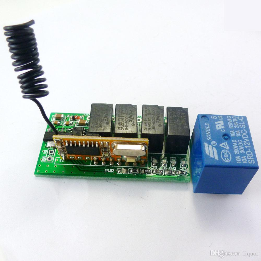 Super Mini Dc 5v 9v 12v 43392m 4ch Rf Wireless Remote Control Relay Raspberry Pi Wiring Diagram Switch For Pt2262 Ev1527 Fixed Learning Code Online With