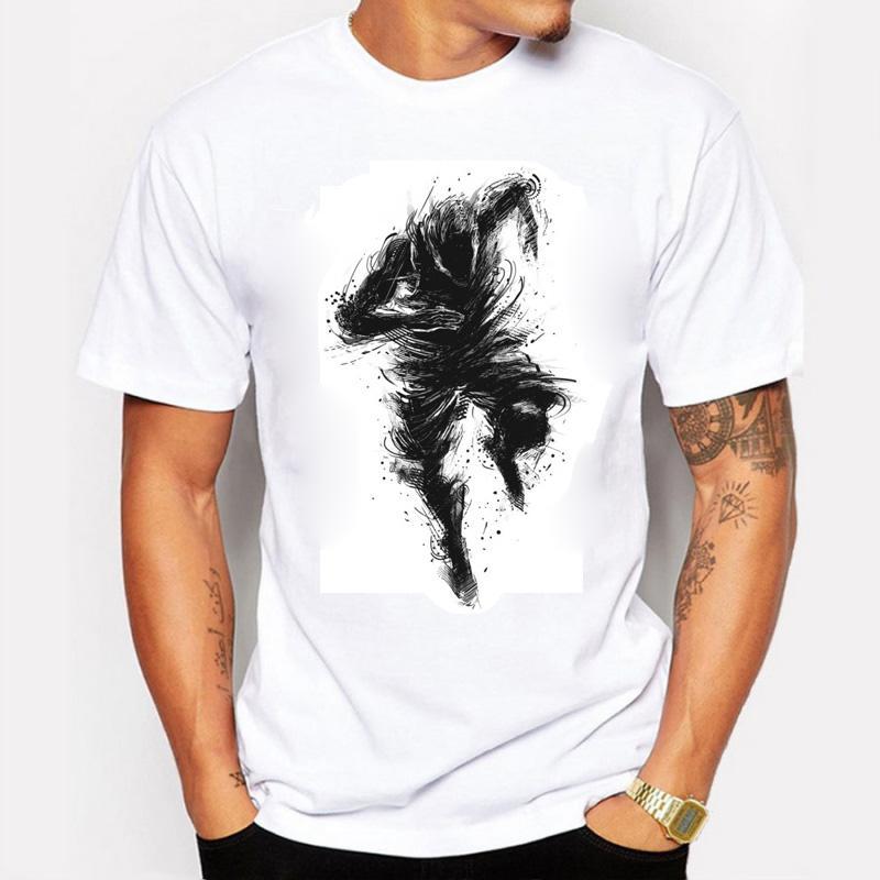 2016 nuova moda stampa stimolare la vostra camicia di cotone comodo uomo t-shirt fitness tshirt homme abbigliamento maschile