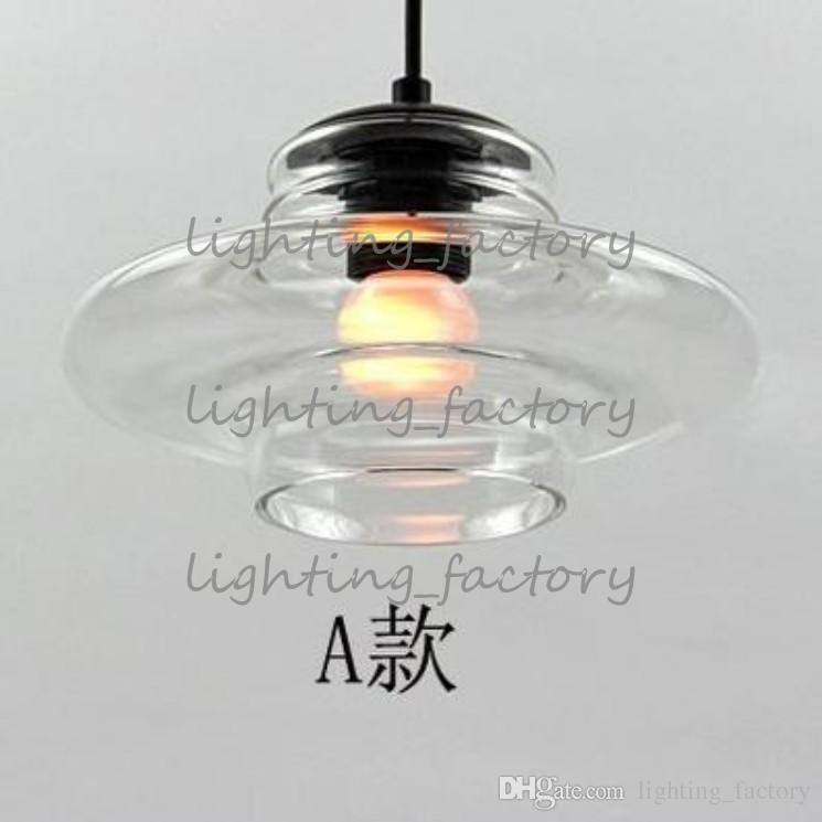 Tom Dixon Pressed Glass Pendant Lamp Light Bowl lens tube ABC modern Ceiling lamp suspension lighting chandeliers