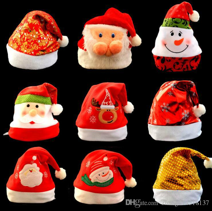 Creative Christmas Gifts.Mew Year Gift Christmas Snowfack Hat Decration Lovers Creative Xmas Gifts Bright Cloth Christmas Hats Snow Star Hats A25 Christmas Lawn Decoration