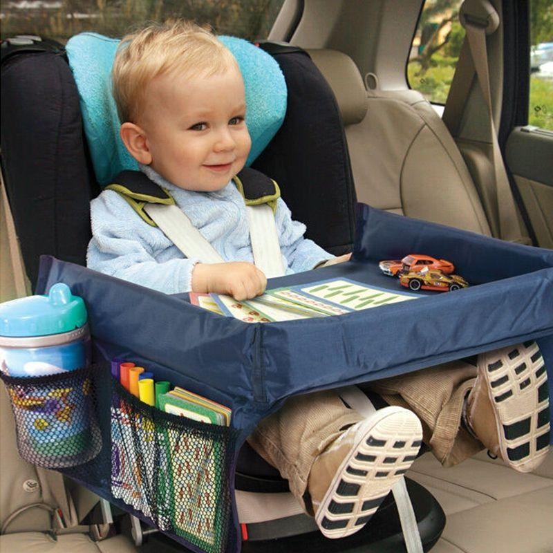 Baby Kids Children Toddlers Car Safety Belt Travel Play Tray Table