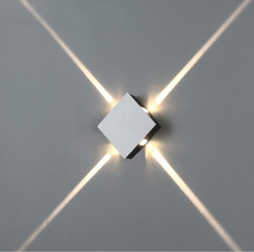4W LED Wall Lamp Indoor Surface Mounted Cube LED Wall Light White ...