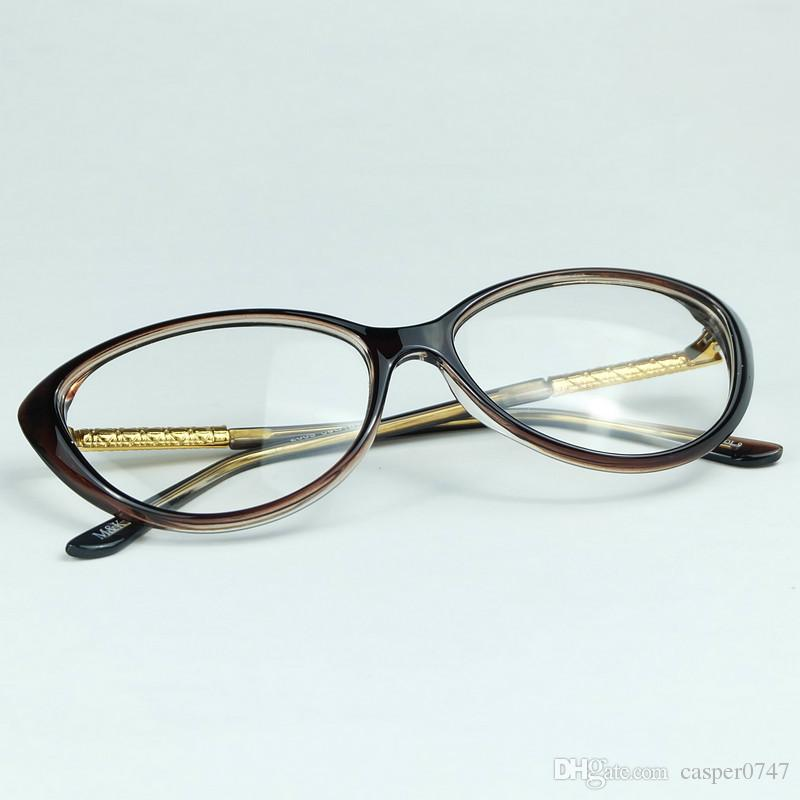 f785eb83d7 Crescent Style Cat Eye Frame Metal Rhombic Plaid Legs With Whole ...
