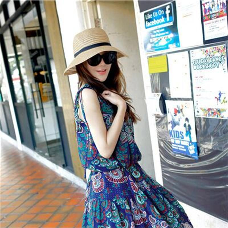 Wholesale- Summer style fashion women cute little hat women sun hat travel hat