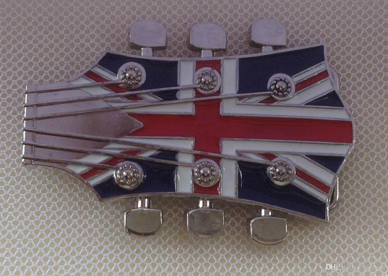 Union Flag British Guitar Head Belt Buckle SW-BY158 suitable for 4cm wideth belt with continous stock