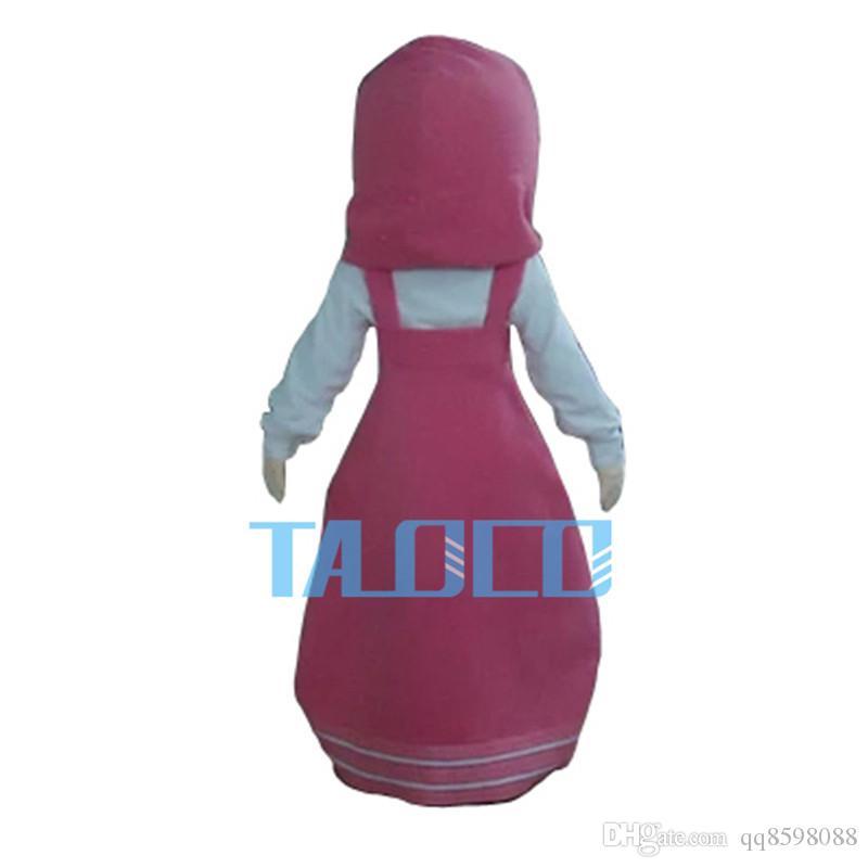 Nueva niña Martha traje de la mascota vestido de la mascota de lujo de tamaño adulto
