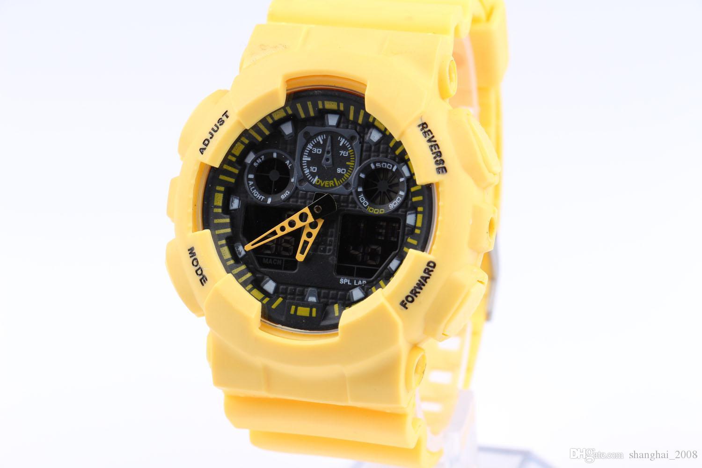 Date des montres de sport pour hommes Montres-bracelets imperméables Montre numérique de luxe 13 couleurs