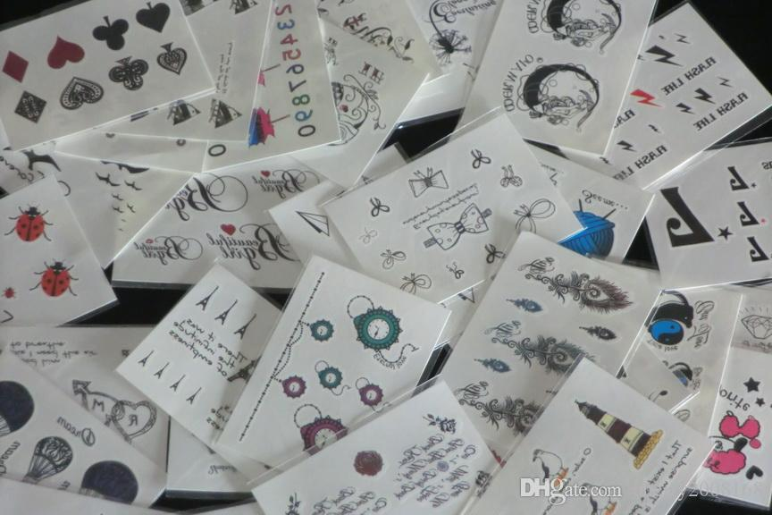 50 stks 7 * 10cm Tijdelijke Tattoos Stickers Cosmetische en Schoonheid Waterdichte Tijdelijke Tattoo Body Art Sticker