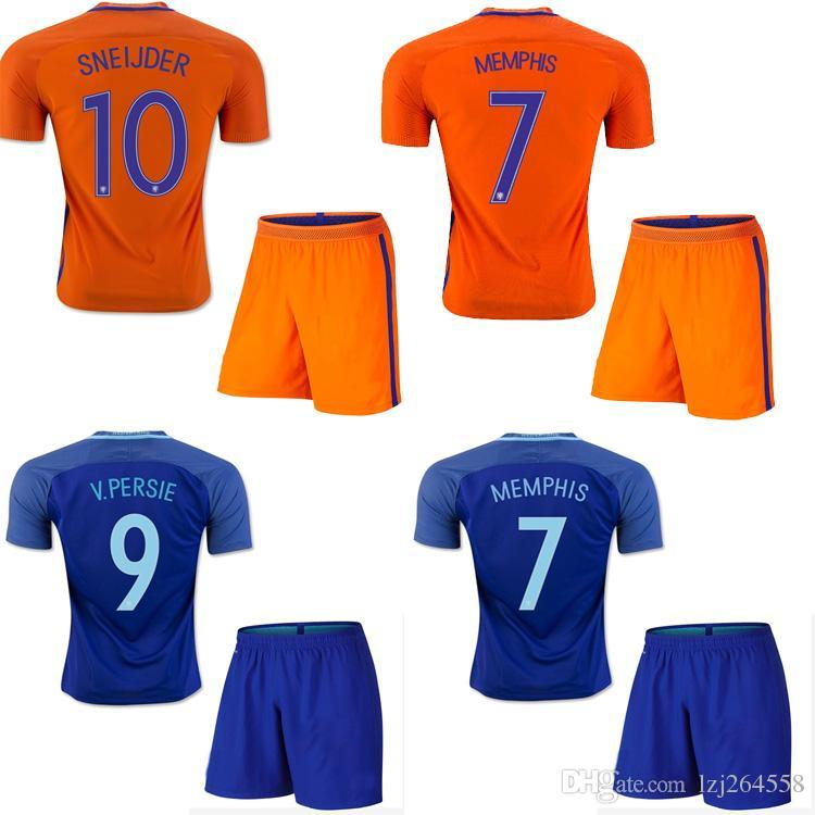 2019 Whosales Netherlands Soccer Uniforms Sets 2016 Holland Jerseys  Football Kits Robben SNEIJDER V.PERSIE MEMPHISFree Shippinng Top Quality  2017 From ... 5a248c8cc