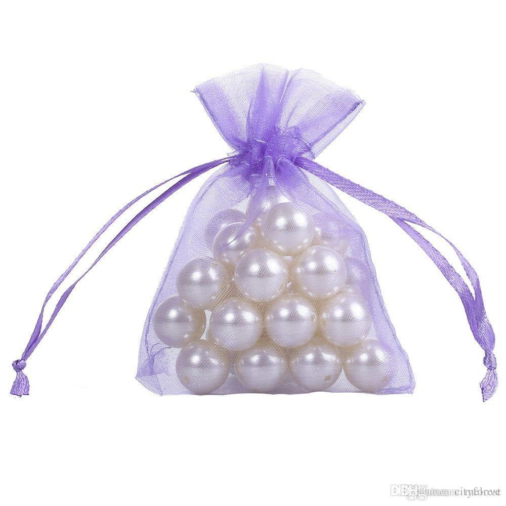 2018 Light Purple Organza Jewelry Gift Pouch Bags 7x9cm 2.7x 3.5 ...