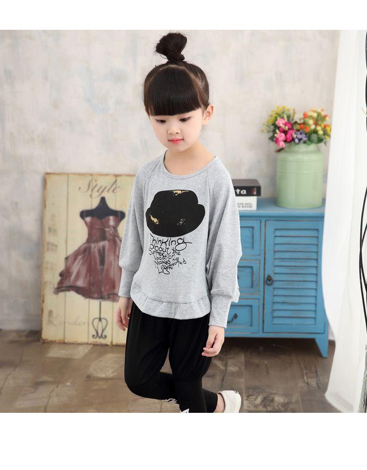 2016 Kız Giyim Yeni Bahar Sonbahar Çocuk Hoodies Pantolon Twinset Çocuk Rahat Spor Takım Elbise Kız Giyim Setleri Eşofman