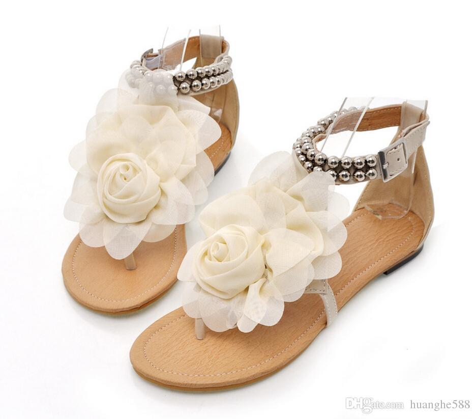 Fashion Girl Sandals Beautiful Flower Summer Shoes Girl