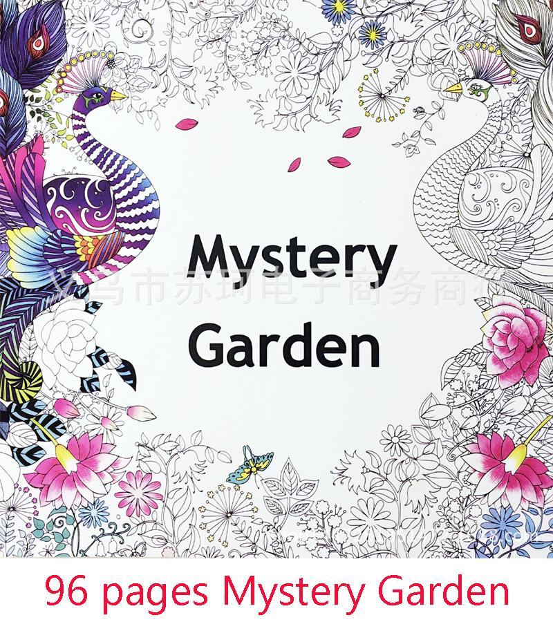 the secret garden mystery garden album in english graffiti coloring book painting stationery decompression secret garden colouring booklet childrens - Graffiti Coloring Book