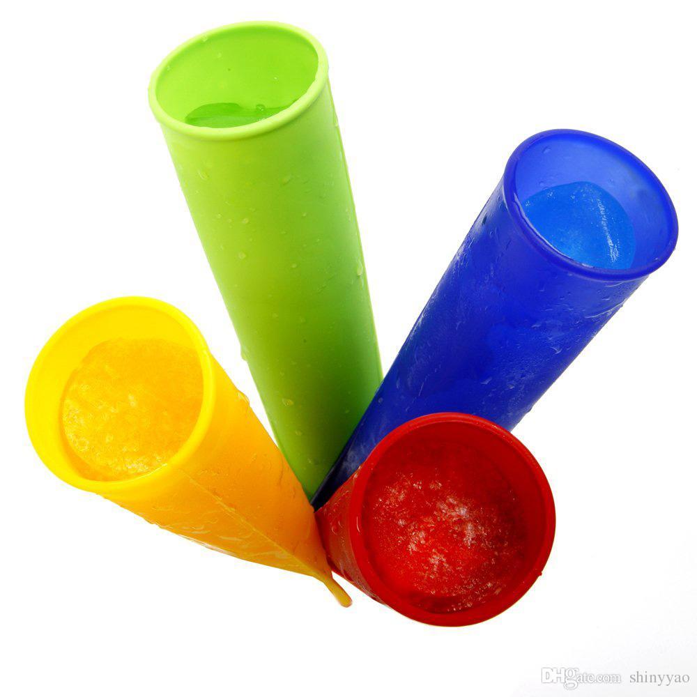 Frete grátis Alta Qualidade Amigável FDA Silicone Ice Pop Makers Moldes 20 cm 0.79 polegada Comprimento / Picolé Moldes 10 cor escolher