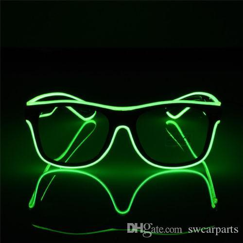 Световой Эль Неон светодиодные очки мигающий мигающий солнцезащитные очки бар партия DJ реквизит горячие