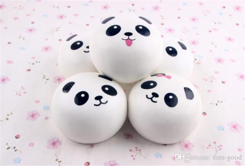 TO Us New 2018 cute Panda Squishy Buns Bread Charms, Mini panda expression4cm Squishies Cell Phone Straps,