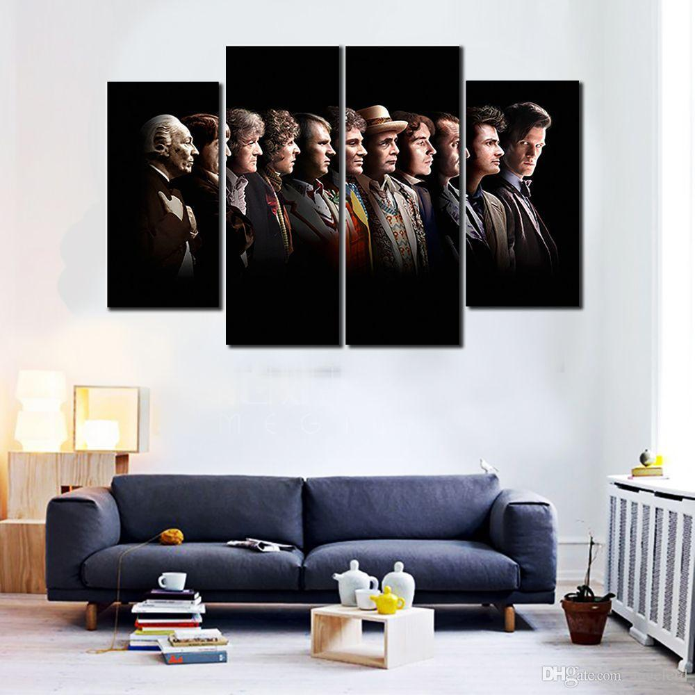 Cheap canvas wall art wall art no frame new stytle 5 pcsno frame hot 4 panels hd doctor who posters painting canvas wall art picture wall pictures for living room canvas print w0310 amipublicfo Choice Image