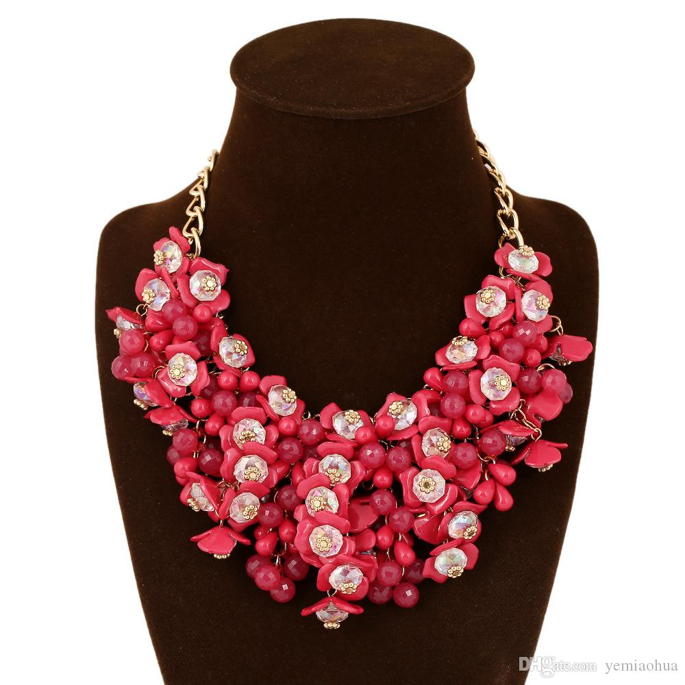low price Fashion small floral necklace accessories2016 Popular Thin Clavicle Chain Necklace Pendant Necklace collier exaggerated