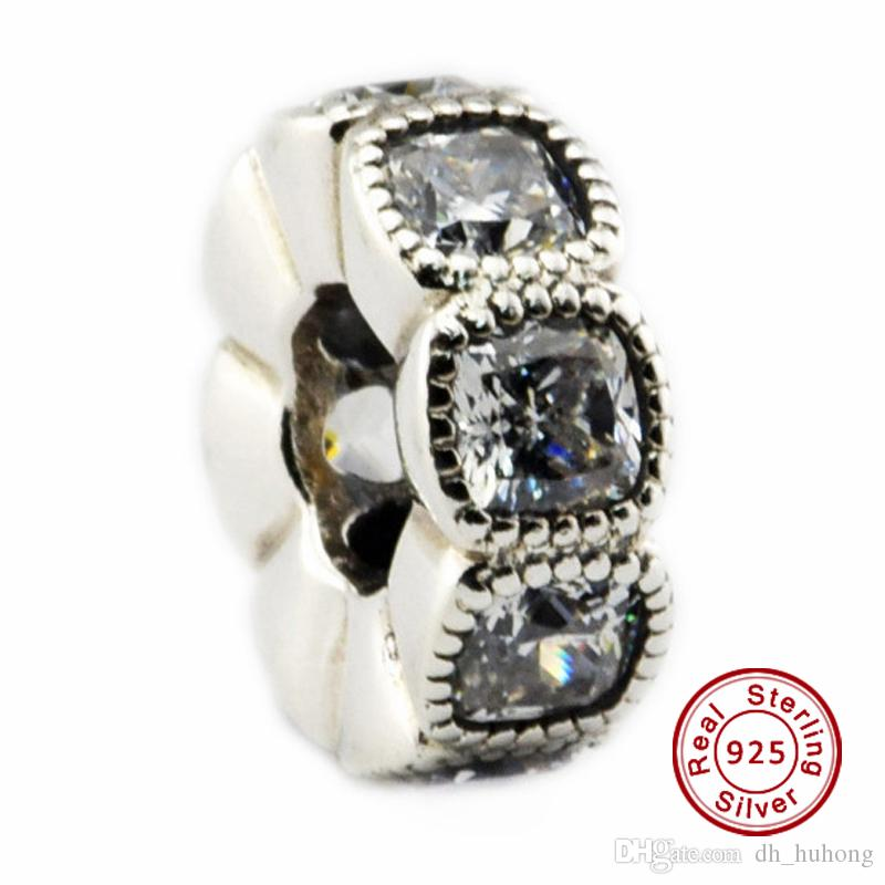 57e1fbccc 2019 Alluring Cushion, Clear CZ 100% 925 Sterling Silver Bead Fit Pandora  Fashion Jewelry DIY Charm Brand From Dh_huhong, $10.15 | DHgate.Com