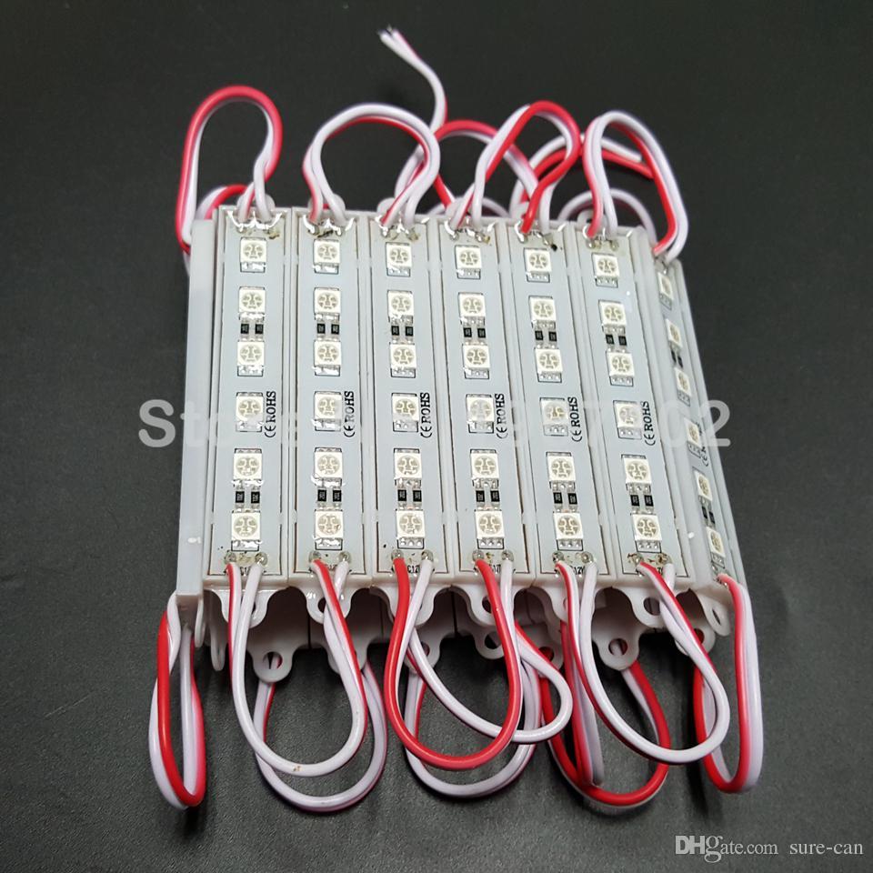 الجملة الرخيصة 5050 6led smd led وحدة الخلفية بكسل 6led dc12v 1.5 واط / قطعة 150 درجة شعاع الملاك الأحمر / الأبيض / الأزرق / الأخضر / الأصفر 500 قطع